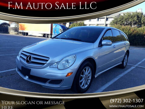 2006 Mercedes-Benz R-Class for sale at F.M Auto Sale LLC in Dallas TX
