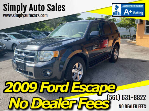 2009 Ford Escape for sale at Simply Auto Sales in Palm Beach Gardens FL