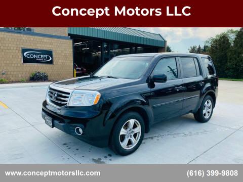 2012 Honda Pilot for sale at Concept Motors LLC in Holland MI