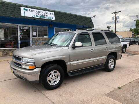 2003 Chevrolet Tahoe for sale at Island Auto Sales in Colorado Springs CO