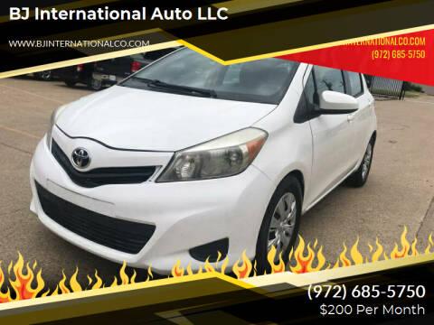 2014 Toyota Yaris for sale at BJ International Auto LLC in Dallas TX
