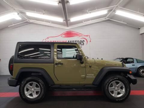 2013 Jeep Wrangler for sale at Premium Motors in Villa Park IL