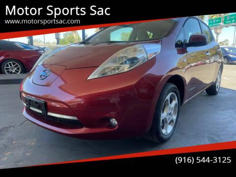 2011 Nissan LEAF for sale at Motor Sports Sac in Sacramento CA