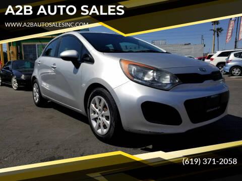 2012 Kia Rio 5-Door for sale at A2B AUTO SALES in Chula Vista CA
