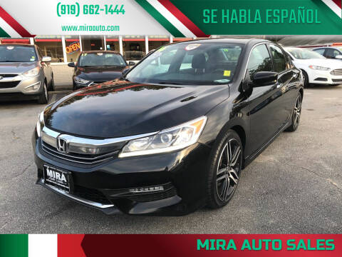 2016 Honda Accord for sale at Mira Auto Sales in Raleigh NC