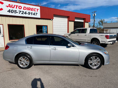 2012 Infiniti G37 Sedan for sale at OKC Auto Direct in Oklahoma City OK