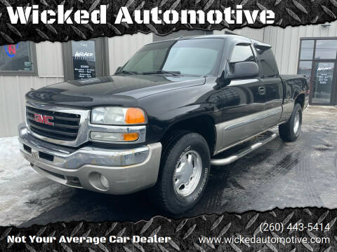 2003 GMC Sierra 1500 for sale at Wicked Automotive in Fort Wayne IN