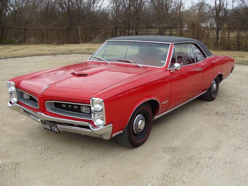 1966 Pontiac GTO for sale at Texas Truck Deals in Corsicana TX