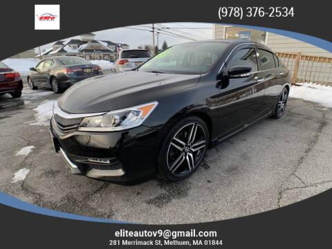 2017 Honda Accord for sale at ELITE AUTO SALES, INC in Methuen MA