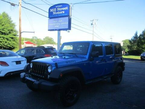 2015 Jeep Wrangler Unlimited for sale at Mill Street Motors in Worcester MA