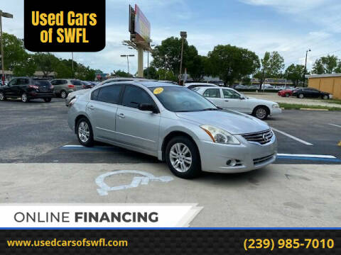 2012 Nissan Altima for sale at Used Cars of SWFL in Fort Myers FL