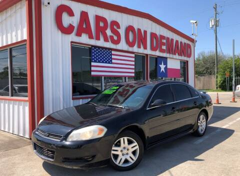 2013 Chevrolet Impala for sale at Cars On Demand in Pasadena TX