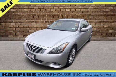 2013 Infiniti G37 Coupe for sale at Karplus Warehouse in Pacoima CA