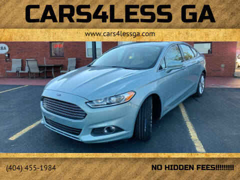 2014 Ford Fusion Hybrid for sale at Cars4Less GA in Alpharetta GA
