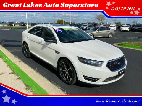 2014 Ford Taurus for sale at Great Lakes Auto Superstore in Waterford Township MI