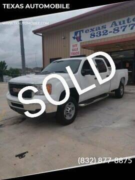 2012 GMC Sierra 2500HD for sale at TEXAS AUTOMOBILE in Houston TX