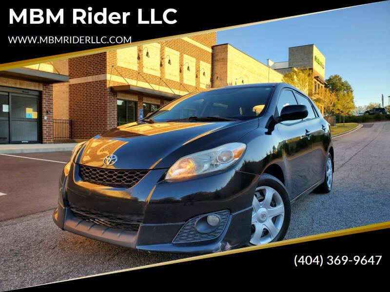 2010 Toyota Matrix for sale at MBM Rider LLC in Alpharetta GA