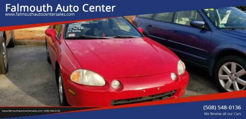 1995 Honda Civic del Sol for sale at Falmouth Auto Center in East Falmouth MA