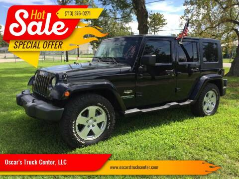 2007 Jeep Wrangler Unlimited for sale at Oscar's Truck Center, LLC in Houston TX