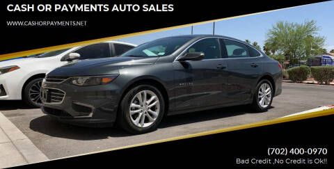 2018 Chevrolet Malibu for sale at CASH OR PAYMENTS AUTO SALES in Las Vegas NV