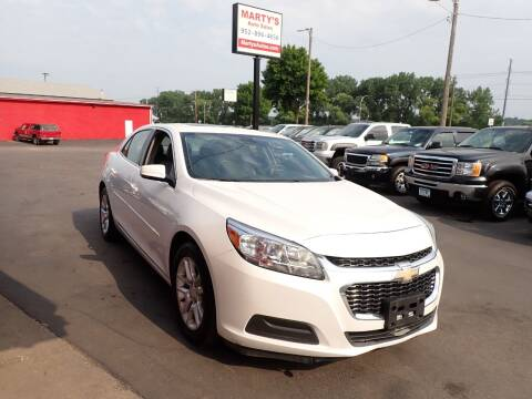 2015 Chevrolet Malibu for sale at Marty's Auto Sales in Savage MN