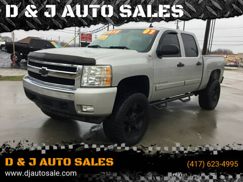2007 Chevrolet Silverado 1500 for sale at D & J AUTO SALES in Joplin MO