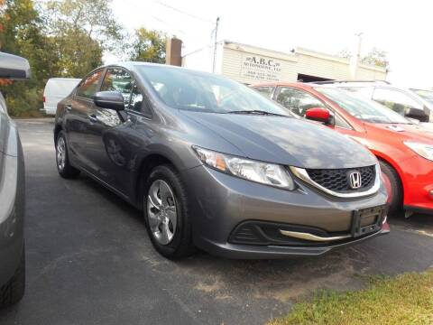 2014 Honda Civic for sale at ABC AUTO LLC in Willimantic CT