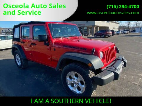2017 Jeep Wrangler Unlimited for sale at Osceola Auto Sales and Service in Osceola WI