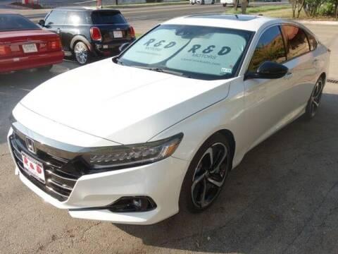 2021 Honda Accord for sale at R & D Motors in Austin TX