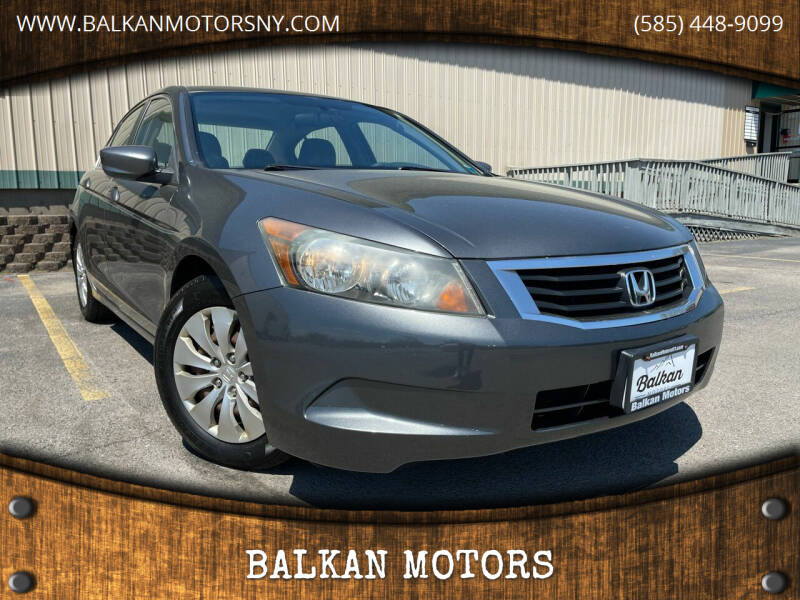 2008 Honda Accord for sale at BALKAN MOTORS in East Rochester NY