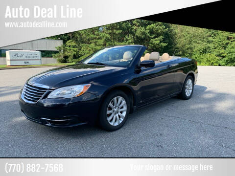 2012 Chrysler 200 Convertible for sale at Auto Deal Line in Alpharetta GA