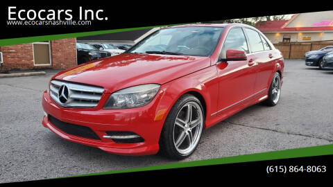 2011 Mercedes-Benz C-Class for sale at Ecocars Inc. in Nashville TN