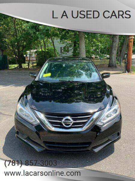 2016 Nissan Altima for sale at L A Used Cars in Abington MA