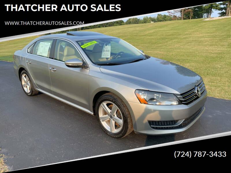 2012 Volkswagen Passat for sale at THATCHER AUTO SALES in Export PA