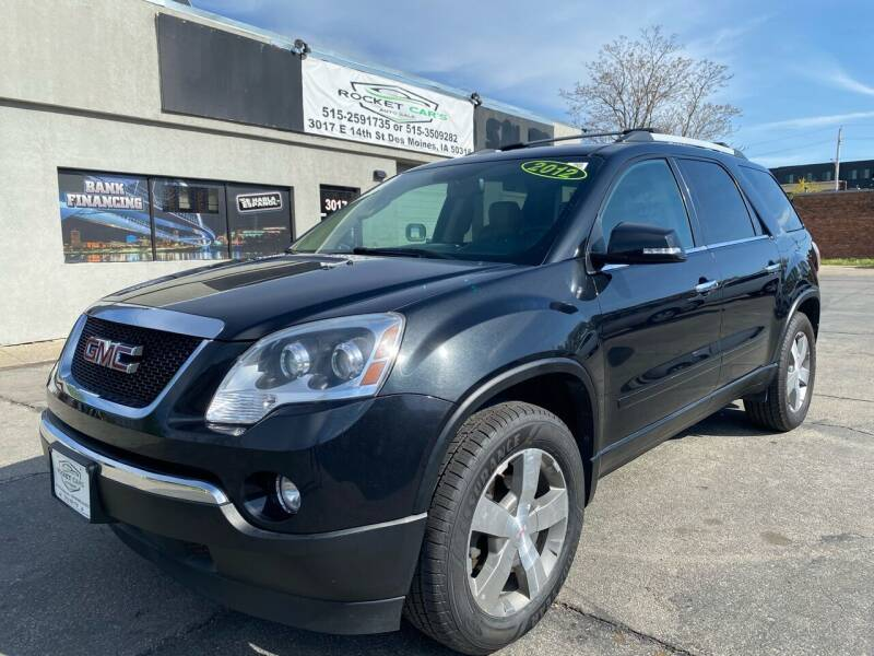 2012 GMC Acadia for sale at Rocket Cars Auto Sales LLC in Des Moines IA