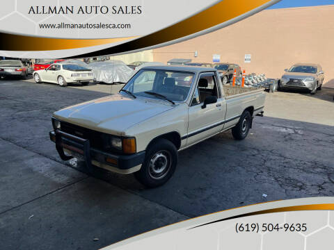 1986 Toyota Pickup for sale at ALLMAN AUTO SALES in San Diego CA