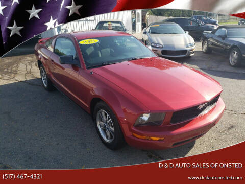 2005 Ford Mustang for sale at D & D Auto Sales Of Onsted in Onsted MI