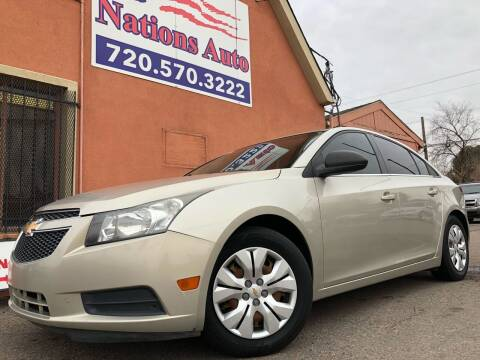 2014 Chevrolet Cruze for sale at Nations Auto Inc. II in Denver CO