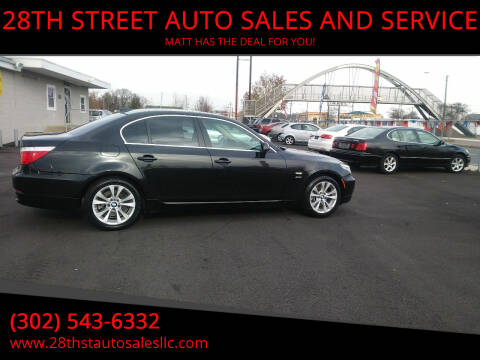 2010 BMW 5 Series for sale at 28TH STREET AUTO SALES AND SERVICE in Wilmington DE