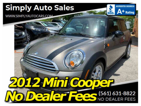 2012 MINI Cooper Hardtop for sale at Simply Auto Sales in Palm Beach Gardens FL