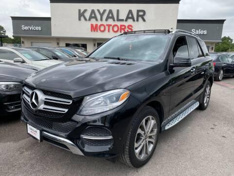 2018 Mercedes-Benz GLE for sale at KAYALAR MOTORS in Houston TX