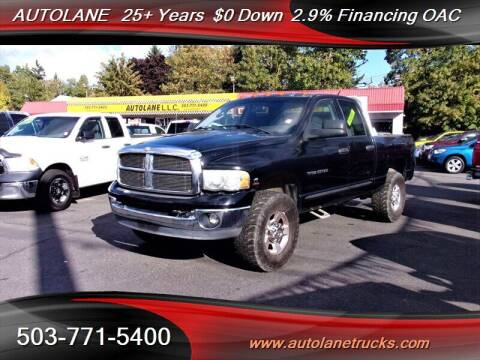 2005 Dodge Ram Pickup 3500 for sale at Auto Lane in Portland OR