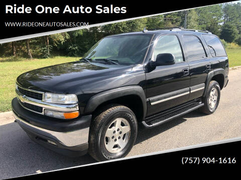 2006 Chevrolet Tahoe for sale at Ride One Auto Sales in Norfolk VA
