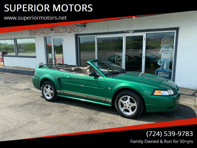 2002 Ford Mustang for sale at SUPERIOR MOTORS in Latrobe PA