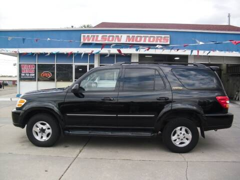 2001 Toyota Sequoia for sale at Wilson Motors in Junction City KS