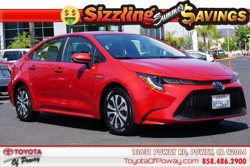 2020 Toyota Corolla Hybrid for sale in Poway, CA