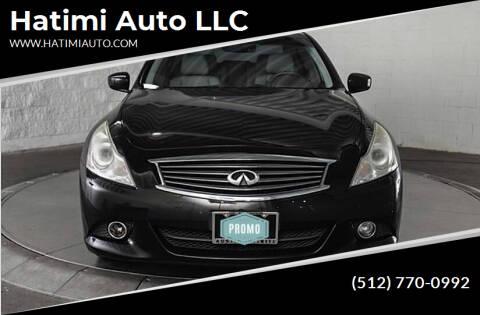 2013 Infiniti G37 Sedan for sale at Hatimi Auto LLC in Buda TX