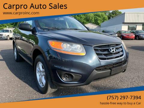 2011 Hyundai Santa Fe for sale at Carpro Auto Sales in Chesapeake VA