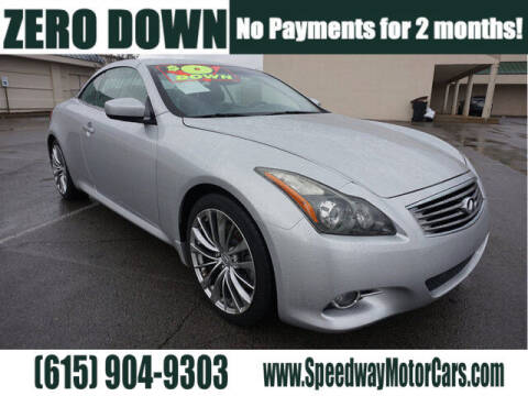 2012 Infiniti G37 Convertible for sale at Speedway Motors in Murfreesboro TN