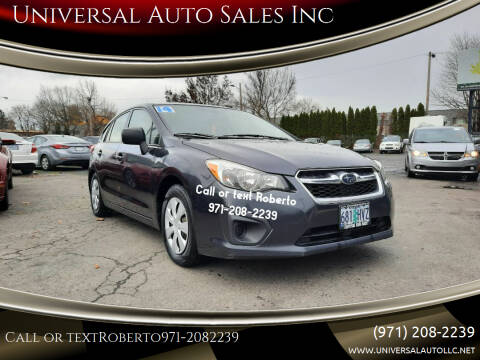 2014 Subaru Impreza for sale at Universal Auto Sales Inc in Salem OR